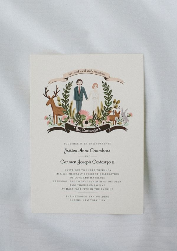 #weddingofmydreams love this style must have some woodland animals in my invitations Rifle Paper Co wedding invitations // photo by Redfield Photography @The Wedding of my Dreams
