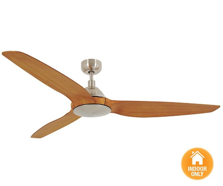 Airfusion Type A 60 DC Fan Only in Brushed Chrome/Teak | Fans