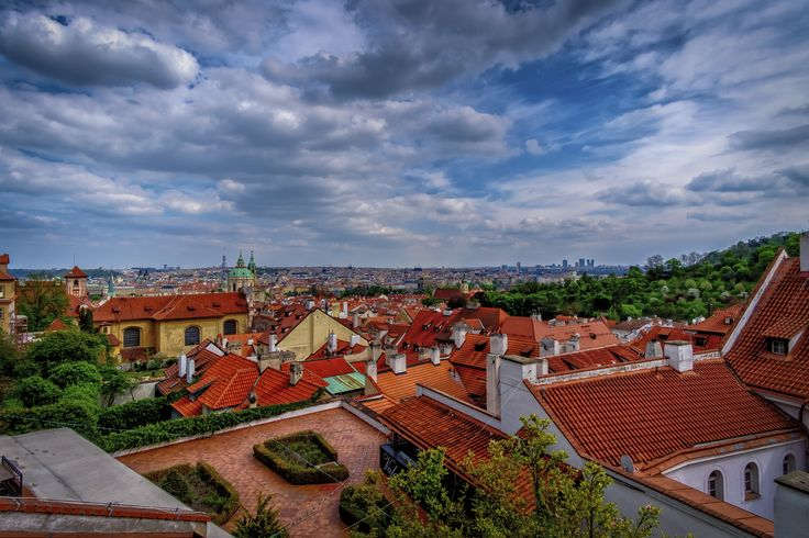 https://flic.kr/p/TQwGSL | Panorama of Prague | Seen from Hradcany castle. It was one of the most crowded long weekend I've ever seen in Prague, luckily enough weather was compansating all the inconveniences (although it was quity windy and chilly). The queue to get inside the castle wriggled for miles so we decided to take couple of shots from the outside instead - I found it a good alternative!
