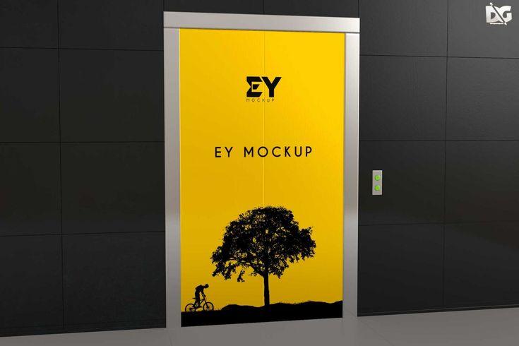 Free Elevator Doors Blank Mockup Mockup Free Psd Free Mockup Logo Design Mockup