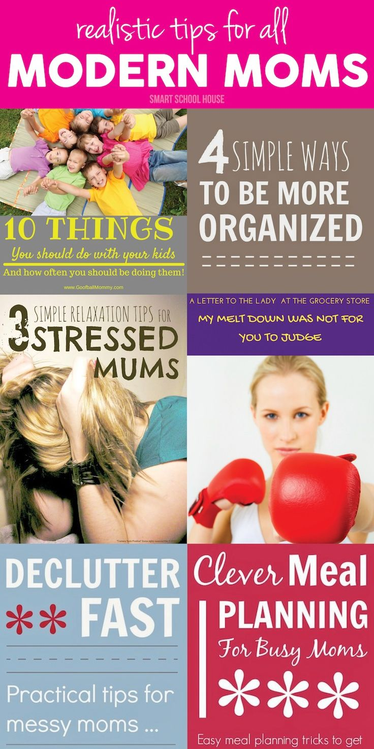 Tips for Moms! These realistic tips for organization, meal planning, decluttering, and relaxation are wonderful!