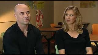 Andre Agassi and Steffi Graf on INSIDE SPORT (BBC)  PART 1 of 3