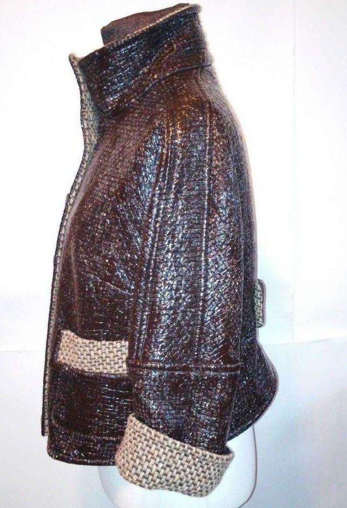 Escada unusual style pouliretan  7% cupro 85% Jacket size  42 #ESCADA #BasicJacket