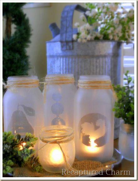 Mason Jar Tea Lights {tutorial}