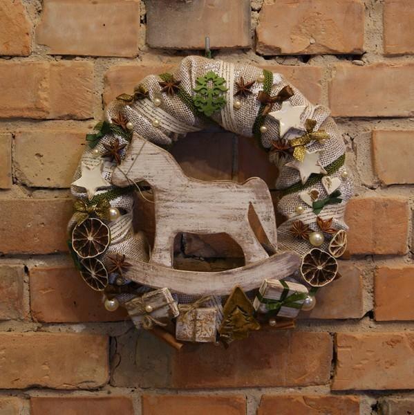 Wianek,ozdoba świąteczna, ręcznie wykonany, Handmade by Suzi Handmade in category Crafts/Woodworking. Located in Choszczno, Poland