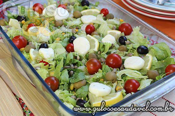 Receita de Salada de Feijão Colorida