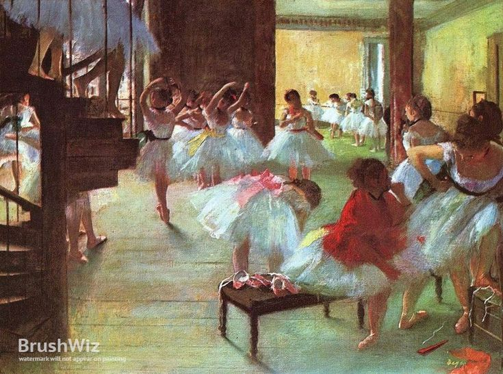 Ballet School by Edgar Degas - Oil Painting Reproduction - BrushWiz.com