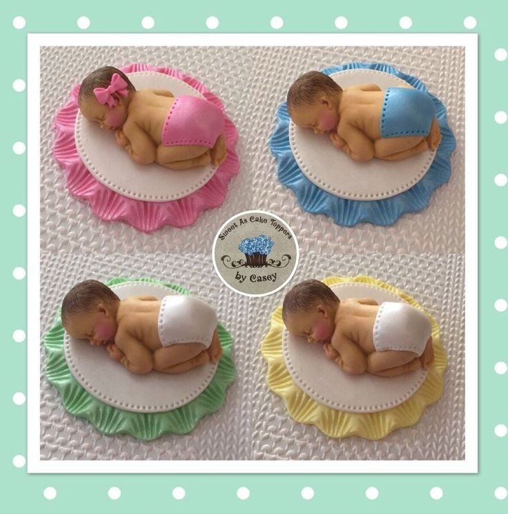 1 X MINI Baby Cake Topper. Choose Pink, Blue, Yellow Or Mint Green. Baby Shower  | eBay