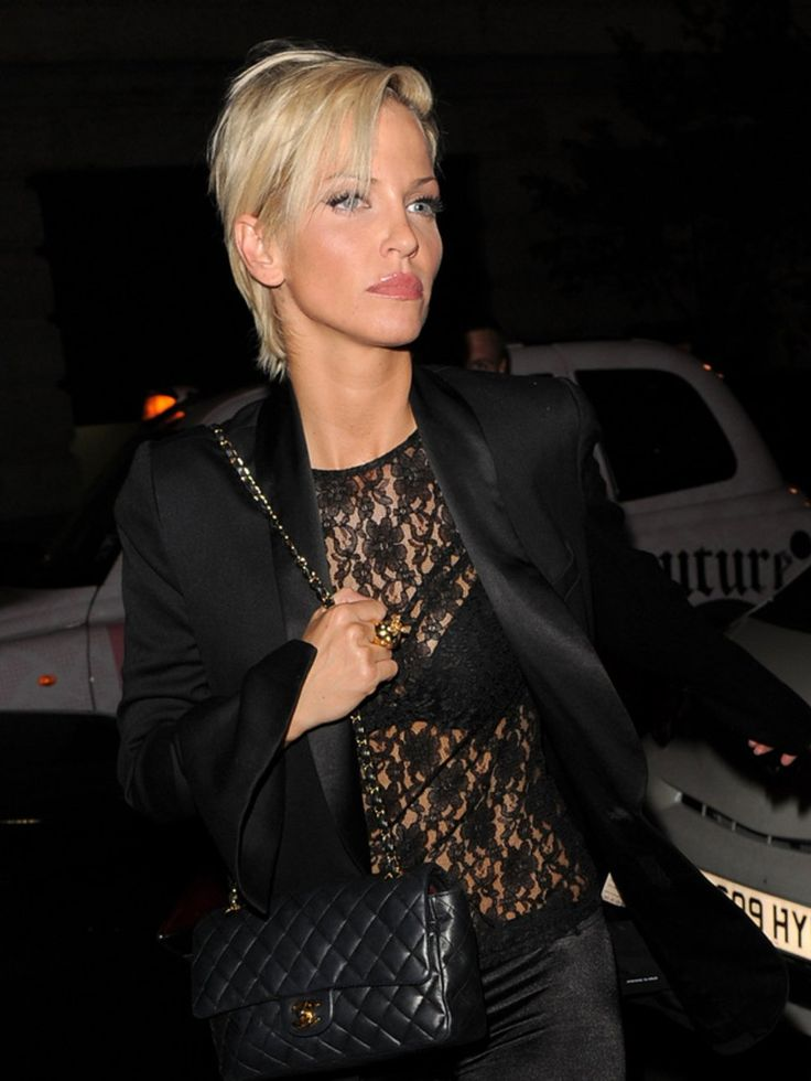 Sarah Harding looking stylish in black lace, wow!