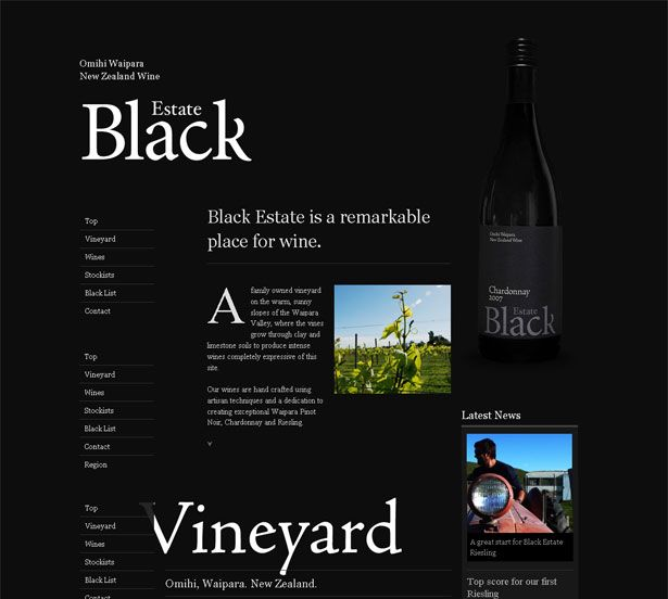 Black background on websites can be elegant and show depth. Here are examples that show how to make it work
