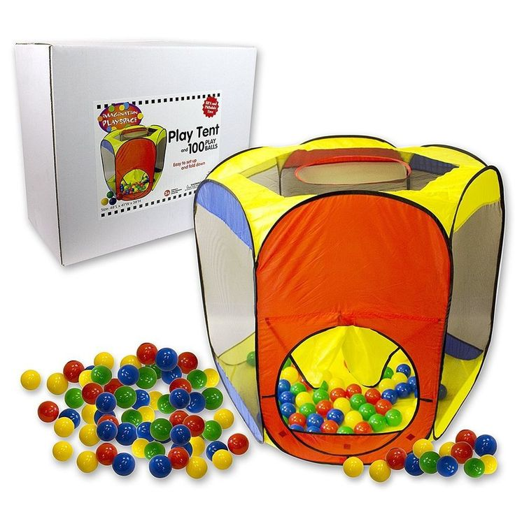 Kids Playhouse Easy Folding Tent Play Ball Pit with Carrying Case 100 Balls NEW #RightTrackToys