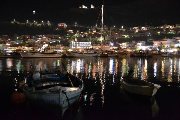 Port of Pothia by night