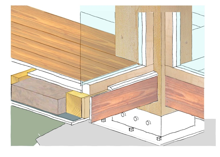 Construction detail sketch - SketchUp & Photoshop