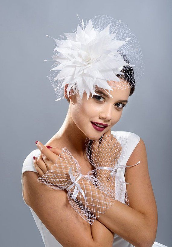 White stunning fascinator hat for the bride c4a511f76f3