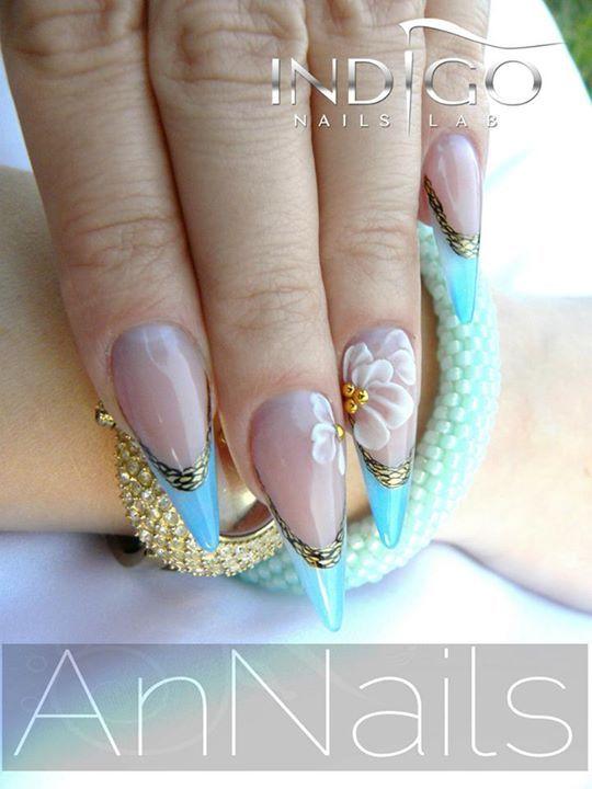 by Kasia Śpiewak Indigo Nails Lab - Find more Inspiration at www.indigo-nails.com #Nail #Flower #Mani