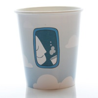 Vote for our new coffee cup design. This design is called Cloudy Coffe by Marthe Roosenboom. Vote for it at www.flysas.com/design