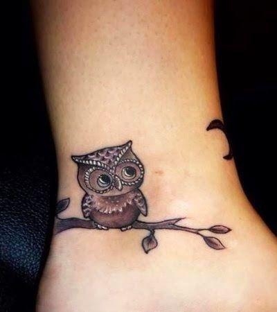 Women Night Owl Tattoo, Owl On Night Design Tattoo, Women Design With Night Owl Tattoo, Owl Tattoo On Women Hand