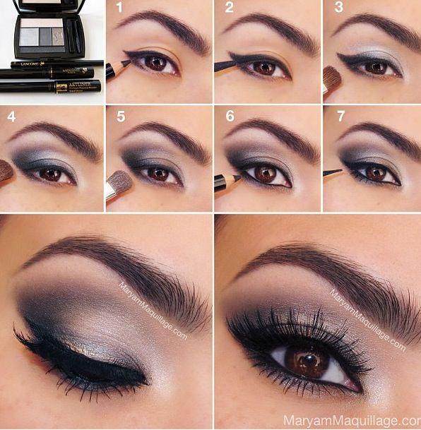 Brown eye makeup tutorial