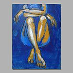 Nude Oil Painting Canvas Couple Love Alluring Bedroom Handmade Home Hotel Wall Art Decor with Stretched Frame 2016 - $73.09