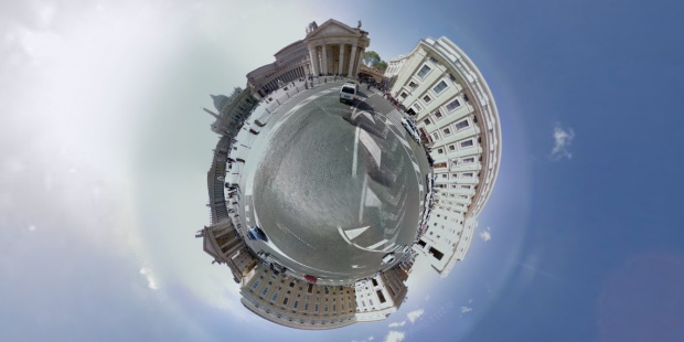 Google Streetview Stereographic, create your little planet and share it with us on our Facebook Page!