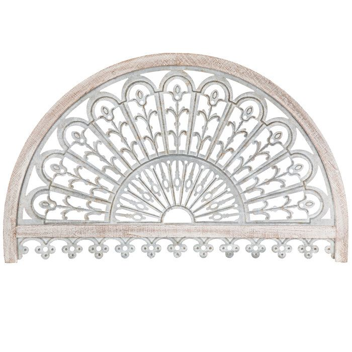 Whitewash Arch Metal Wall Decor With Images Arched Wall Decor