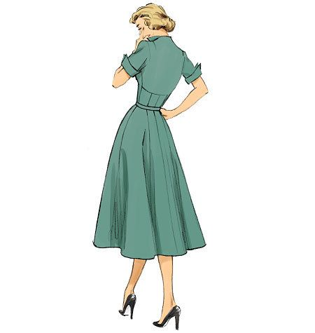 Butterick 6018 Retro 50's Dress Sewing Pattern Sizes 14, 16, 18, 20, & 22 by ucanmakethis on Etsy https://www.etsy.com/listing/201834847/butterick-6018-retro-50s-dress-sewing