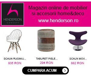 """Henderson este magazin online de mobilier si accesorii home&deco. Acesta este distribuitor a peste 300 de producatori consacrati din Europa, oferind spre vanzare peste 25.000 de produse, toate insotite de certificat de calitate si garantia de """"produs original"""", reducand astfel foarte mult nivelul de neincredere al clientului."""