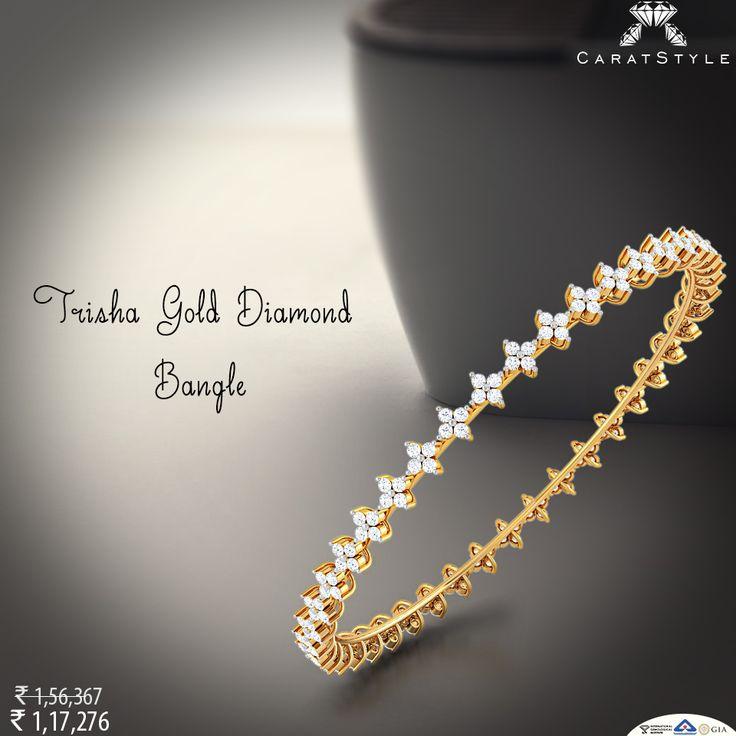 Every morning should be this beautiful. #diamond #bangle #diamondbangle #goldbangle #bangleonlineshopping #diamondjewellery