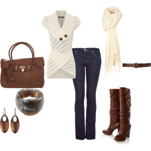 white, brown, and denim.. LOVE!!