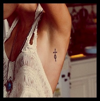 Love the placement for a small yet meaningful tattoo