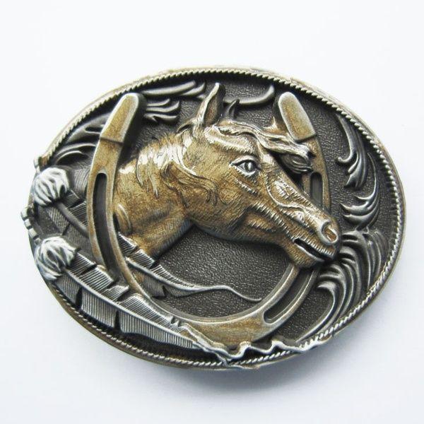 New Vintage Enamel Horses Rodeo Western Belt Buckle also Stock in US