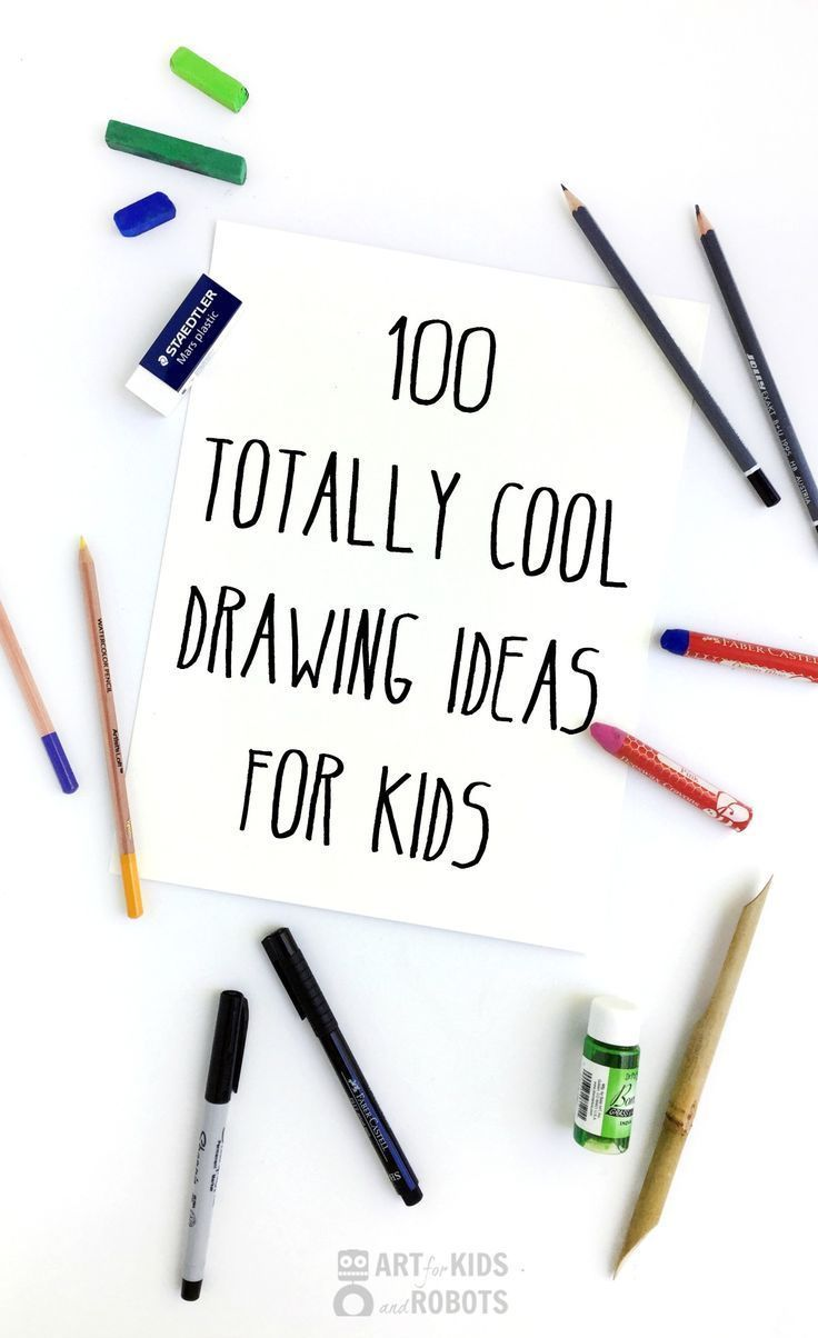 A fun compilation of 100 drawing ideas for kids of all ages and abilities. Including super easy and more in-depth drawing ideas.