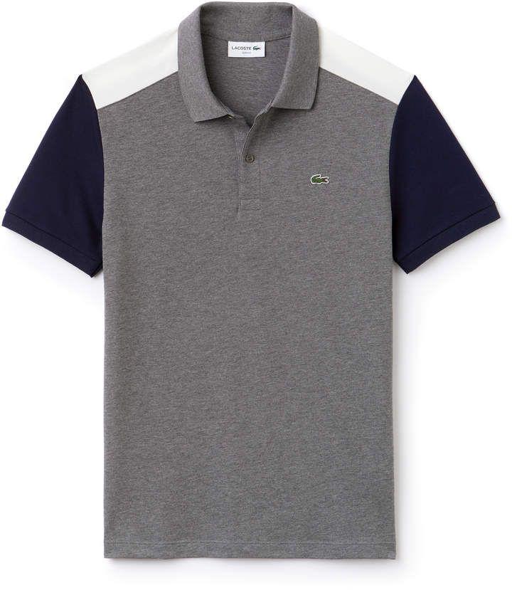 Lacoste Men's Slim Fit Colorblock Stretch Pima Cotton Pique Polo ...