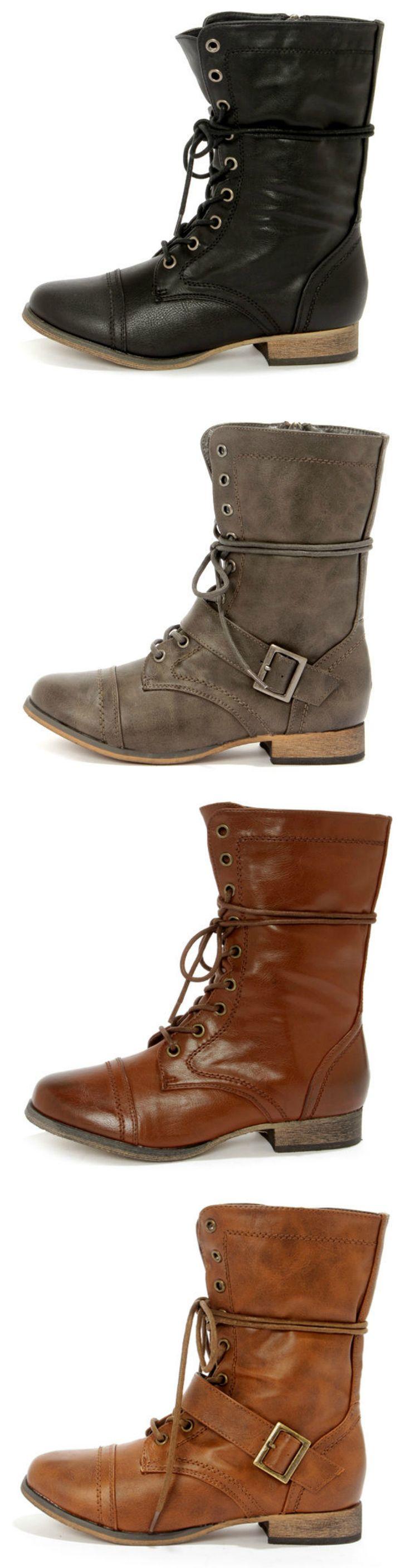 Lace-up Combat Boots via lulus.com