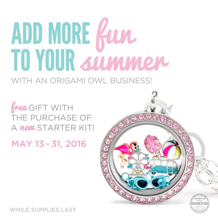 "Get this ""Summer of Fun"" look as a *free* extra with you join Origami Owl in May.   #origamiowl #summeroffun #cottoncandy #ferriswheel #flamingo #beachball #sunglasses #lovemyjob"