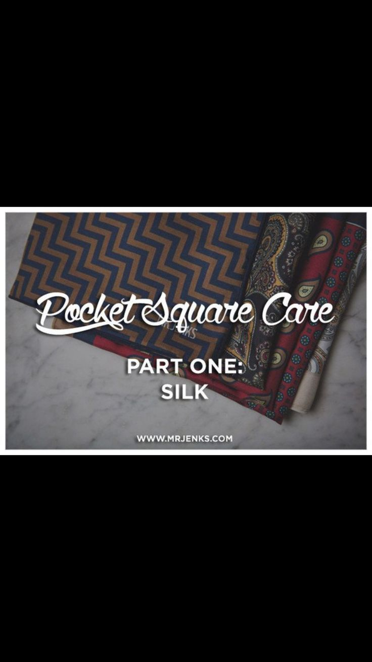 Check out our new Blog Post on how to care for your Pocket Square! -> MrJenks.com