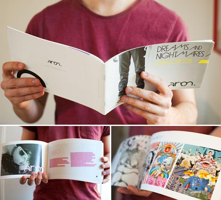 Création d'un univers graphique et d'un catalogue pour la collection SS11 de la marque de jean Aron denim.