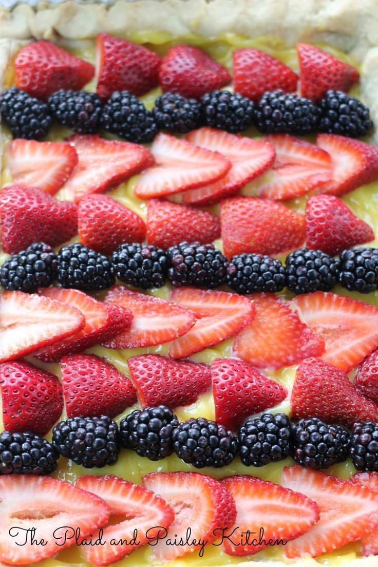 Striped Summer Fruit Tart www.panpkitchen.com