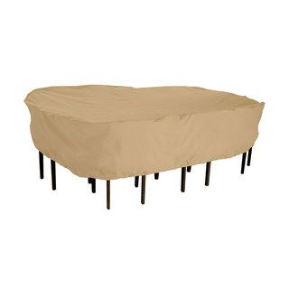 Classic Accessories Terrazzo Rectangular/ Oval Patio Table and Chair Set Cover | Overstock.com Shopping - The Best Deals on Patio Furniture Covers