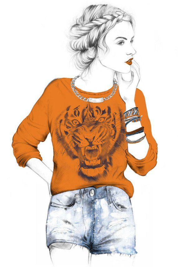 Fashion Illustration by Gloria Radio - 50 Beautiful Fashion Illustrations  <3 <3
