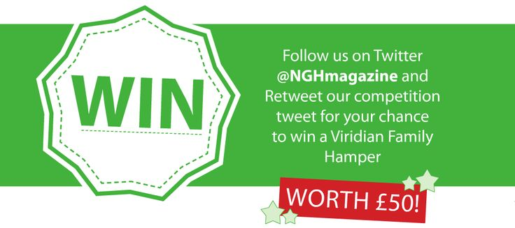 COMPETITION!   Follow @NGHmagazine on Twitter and Retweet our competition tweet for your chance to win a Viridian family hamper worth £50!  #competition #viridian #vitamins #health #ireland #twitter #win