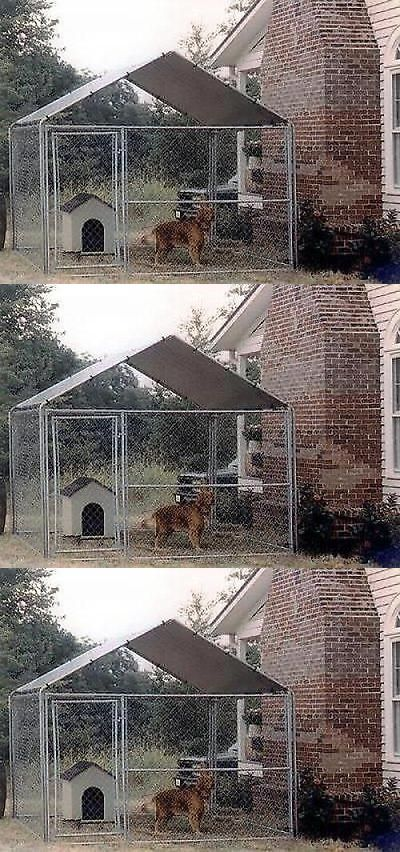 Fences and Exercise Pens 20748: Dog Kennel Cover 10 X 10 House Canopy Outdoor Run Pet Shelter Shade Enclosure BUY IT NOW ONLY: $119.99