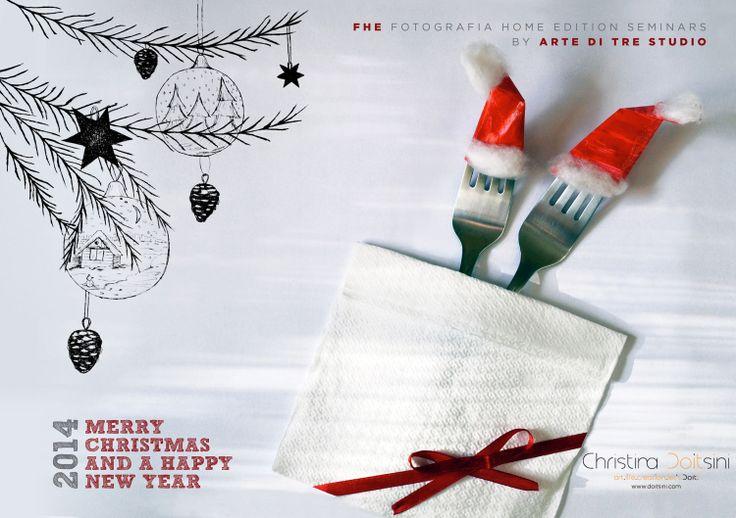 Graphic design_print_Post card Ευχετήρια κάρτα για το 2014 Greeting card for 2014 www.doitsini.com