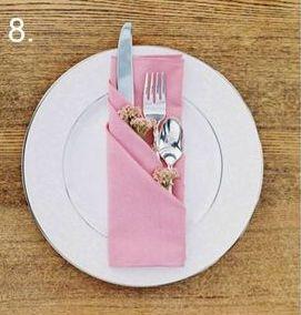 Doodoa Ideas Creativas - Reciclado creativo » Doblado de servilletas elegante