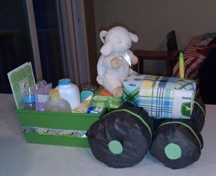 John Deere Diaper Tractor : Diaper tractor cake baby shower ideas pinterest my