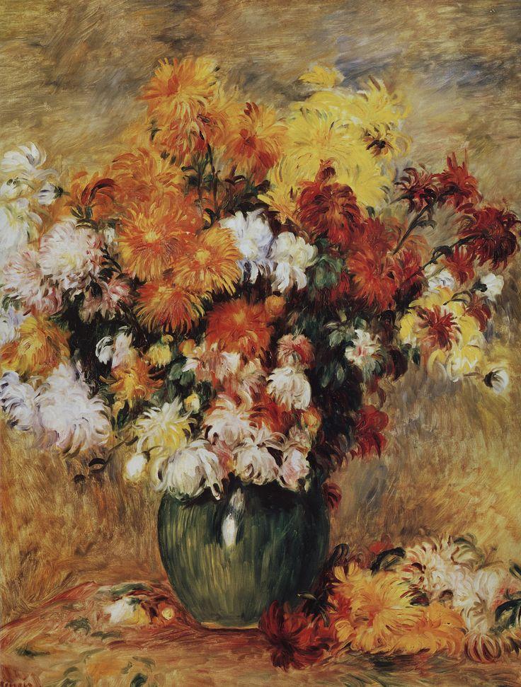 "Пьер Огюст Ренуар. ""Букет хризантем"". 1881 год"
