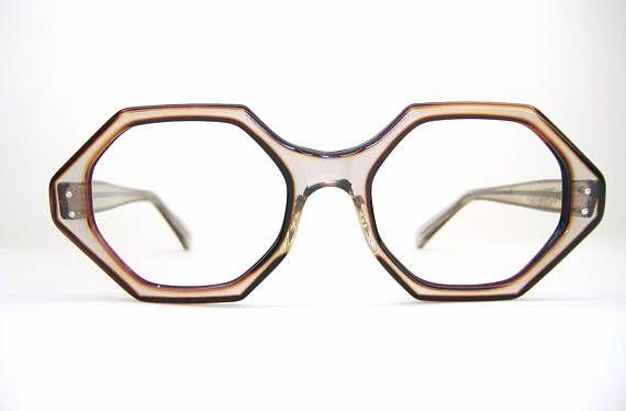 f53c26d7f0 Vintage 60s Octagon Eyeglasses or Sunglasses Frame NOS