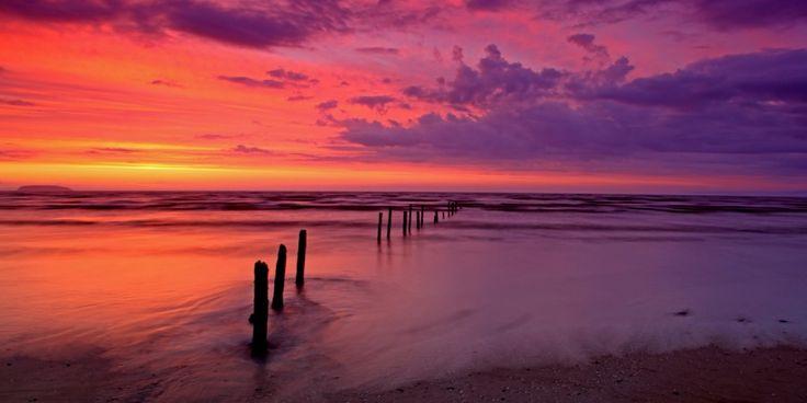 Summer sunset atBurnham- on-Sea, Somerset