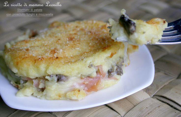 SFORMATO+DI+PATATE+con+prosciutto+funghi+e+mozzarella