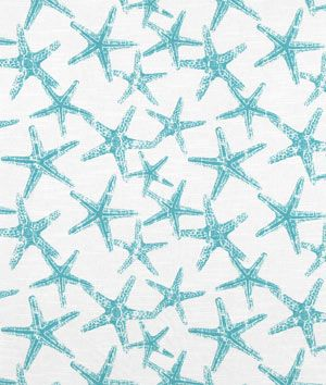 Premier Prints Sea Friends Coastal Blue Slub Fabric - $8.75 | onlinefabricstore.net